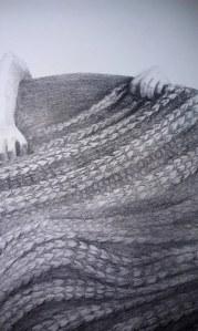 hands pulling blanket