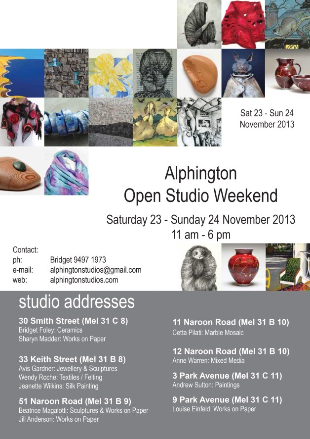 Alphington Open Studio