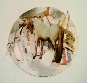 v horse collage circle