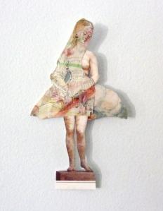 v woman cutout