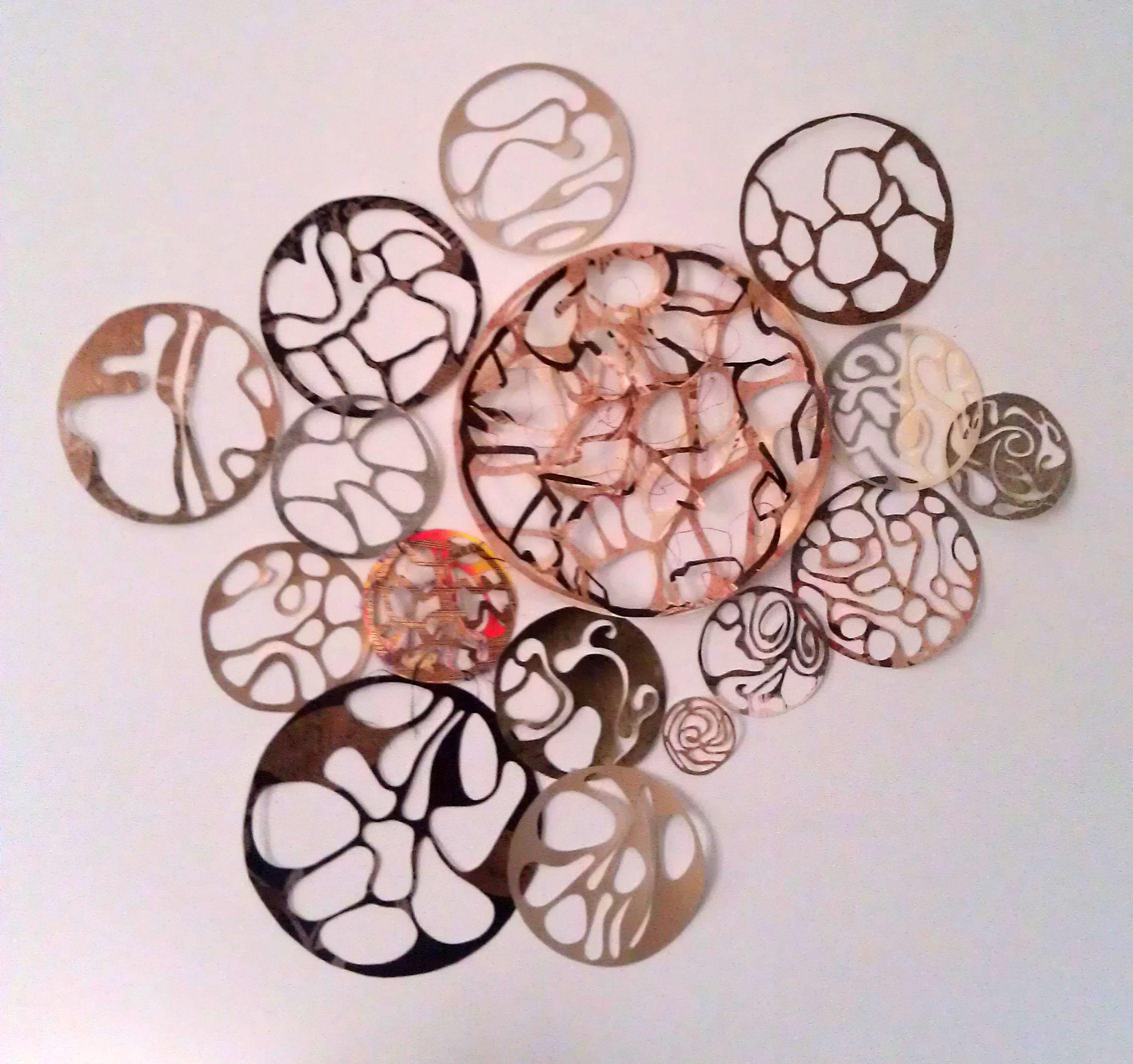 Making cutout circle shapes is meditative and rewarding for Circle wall art