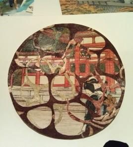cutout 2 japanese women woodblock