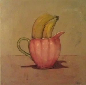 Pink Jug with Bananas