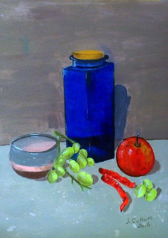 joan blue vase