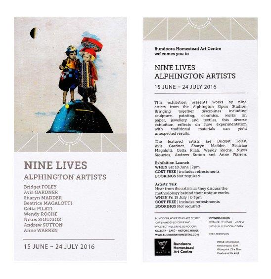 Nine Lives invitation