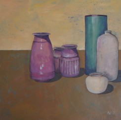 7. Still Life with pink vases